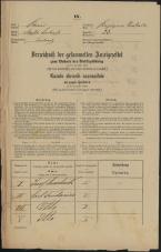 Popis prebivalstva 31. 12. 1869<br />Ljubljana<br />Kapucinsko predmestje 23<br />Population census 31 December 1869