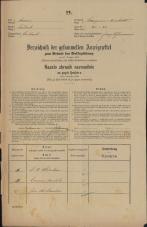 Popis prebivalstva 31. 12. 1869<br />Ljubljana<br />Kapucinsko predmestje 26<br />Population census 31 December 1869
