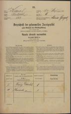 Popis prebivalstva 31. 12. 1869<br />Ljubljana<br />Kapucinsko predmestje 8<br />Population census 31 December 1869