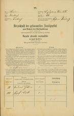 Popis prebivalstva 31. 12. 1869<br />Ljubljana<br />Kapucinsko predmestje 53<br />Population census 31 December 1869