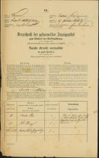 Popis prebivalstva 31. 12. 1869<br />Ljubljana<br />Kapucinsko predmestje 57<br />Population census 31 December 1869