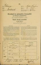 Popis prebivalstva 31. 12. 1869<br />Ljubljana<br />Kapucinsko predmestje 61<br />Population census 31 December 1869