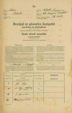 Popis prebivalstva 31. 12. 1869<br />Ljubljana<br />Kapucinsko predmestje 66<br />Population census 31 December 1869