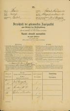 Popis prebivalstva 31. 12. 1869<br />Ljubljana<br />Kapucinsko predmestje 67<br />Population census 31 December 1869