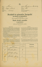 Popis prebivalstva 31. 12. 1869<br />Ljubljana<br />Kapucinsko predmestje 68<br />Population census 31 December 1869