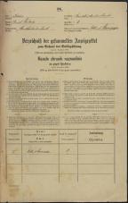 Popis prebivalstva 31. 12. 1869<br />Ljubljana<br />Karlovško predmestje 1<br />Population census 31 December 1869