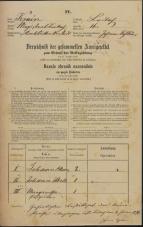 Popis prebivalstva 31. 12. 1869<br />Ljubljana<br />Karlovško predmestje 16<br />Population census 31 December 1869