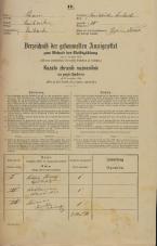 Popis prebivalstva 31. 12. 1869<br />Ljubljana<br />Karlovško predmestje 20<br />Population census 31 December 1869