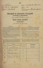 Popis prebivalstva 31. 12. 1869<br />Ljubljana<br />Karlovško predmestje 21<br />Population census 31 December 1869