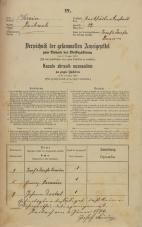 Popis prebivalstva 31. 12. 1869<br />Ljubljana<br />Karlovško predmestje 22<br />Population census 31 December 1869