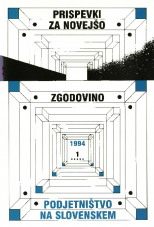 Prispevki za novejšo zgodovino, 1994, št. 1<br />Podjetništvo na Slovenskem<br />Razprave s simpozija v Ljubljani 19. januarja 1994