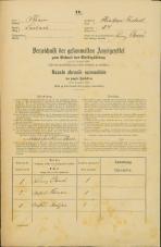 Popis prebivalstva 31. 12. 1869<br />Ljubljana<br />Krakovsko predmestje 34<br />Population census 31 December 1869