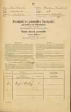 Popis prebivalstva 31. 12. 1869<br />Ljubljana<br />Krakovsko predmestje 76<br />Population census 31 December 1869