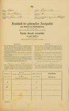 Popis prebivalstva 31. 12. 1869<br />Ljubljana<br />Kurja vas 14<br />Population census 31 December 1869