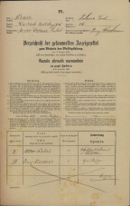 Popis prebivalstva 31. 12. 1869<br />Ljubljana<br />Poljansko predmestje 14<br />Population census 31 December 1869