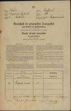 Popis prebivalstva 31. 12. 1869<br />Ljubljana<br />Poljansko predmestje 23<br />Population census 31 December 1869
