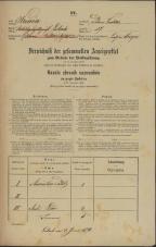Popis prebivalstva 31. 12. 1869<br />Ljubljana<br />Poljansko predmestje 27<br />Population census 31 December 1869