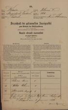 Popis prebivalstva 31. 12. 1869<br />Ljubljana<br />Poljansko predmestje 100<br />Population census 31 December 1869