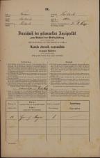 Popis prebivalstva 31. 12. 1869<br />Ljubljana<br />Poljansko predmestje 102<br />Population census 31 December 1869