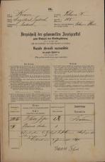 Popis prebivalstva 31. 12. 1869<br />Ljubljana<br />Poljansko predmestje 105<br />Population census 31 December 1869