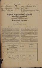 Popis prebivalstva 31. 12. 1869<br />Ljubljana<br />Poljansko predmestje 107<br />Population census 31 December 1869
