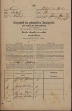 Popis prebivalstva 31. 12. 1869<br />Ljubljana<br />Poljansko predmestje 52<br />Population census 31 December 1869