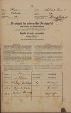 Popis prebivalstva 31. 12. 1869<br />Ljubljana<br />Poljansko predmestje 59<br />Population census 31 December 1869