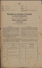 Popis prebivalstva 31. 12. 1869<br />Ljubljana<br />Poljansko predmestje 60<br />Population census 31 December 1869