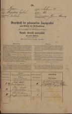 Popis prebivalstva 31. 12. 1869<br />Ljubljana<br />Poljansko predmestje 61<br />Population census 31 December 1869