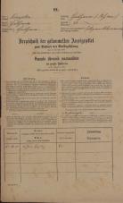 Popis prebivalstva 31. 12. 1869<br />Ljubljana<br />Poljansko predmestje 73<br />Population census 31 December 1869