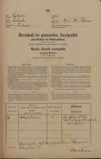 Popis prebivalstva 31. 12. 1869<br />Ljubljana<br />Poljansko predmestje 88<br />Population census 31 December 1869