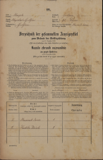 Popis prebivalstva 31. 12. 1869<br />Ljubljana<br />Poljansko predmestje 95<br />Population census 31 December 1869