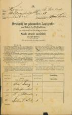 Popis prebivalstva 31. 12. 1869<br />Ljubljana<br />Svetega Petra predmestje 18<br />Population census 31 December 1869