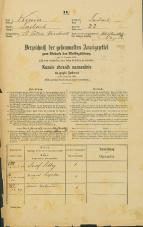 Popis prebivalstva 31. 12. 1869<br />Ljubljana<br />Svetega Petra predmestje 22<br />Population census 31 December 1869