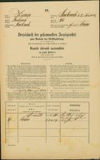 Popis prebivalstva 31. 12. 1869<br />Ljubljana<br />Svetega Petra predmestje 43<br />Population census 31 December 1869