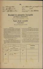 Popis prebivalstva 31. 12. 1869<br />Ljubljana<br />Svetega Petra predmestje 106<br />Population census 31 December 1869