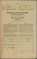 Popis prebivalstva 31. 12. 1869<br />Ljubljana<br />Svetega Petra predmestje 110<br />Population census 31 December 1869