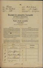 Popis prebivalstva 31. 12. 1869<br />Ljubljana<br />Svetega Petra predmestje 72<br />Population census 31 December 1869
