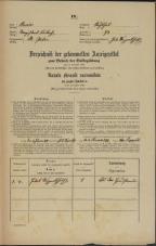 Popis prebivalstva 31. 12. 1869<br />Ljubljana<br />Svetega Petra predmestje 73<br />Population census 31 December 1869