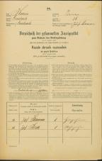 Popis prebivalstva 31. 12. 1869<br />Ljubljana<br />Trnovsko predmestje 26<br />Population census 31 December 1869