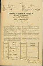 Popis prebivalstva 31. 12. 1869<br />Ljubljana<br />Trnovsko predmestje 27<br />Population census 31 December 1869