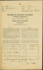 Popis prebivalstva 31. 12. 1869<br />Ljubljana<br />Trnovsko predmestje 72<br />Population census 31 December 1869