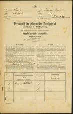 Popis prebivalstva 31. 12. 1869<br />Ljubljana<br />Trnovsko predmestje 73<br />Population census 31 December 1869