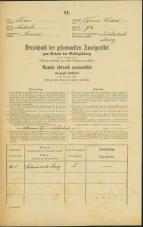 Popis prebivalstva 31. 12. 1869<br />Ljubljana<br />Trnovsko predmestje 74<br />Population census 31 December 1869