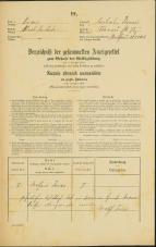 Popis prebivalstva 31. 12. 1869<br />Ljubljana<br />Trnovsko predmestje 75<br />Population census 31 December 1869