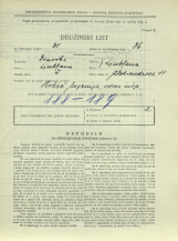 Popis prebivalstva 31. 3. 1931<br />Ljubljana<br />Aleksandrova cesta 11<br />Population census 31 March 1931