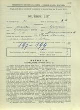 Popis prebivalstva 31. 3. 1931<br />Ljubljana<br />Aleksandrova cesta 16<br />Population census 31 March 1931