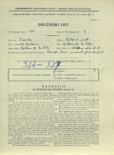 Popis prebivalstva 31. 3. 1931<br />Ljubljana<br />Aleševčeva ulica 15<br />Population census 31 March 1931
