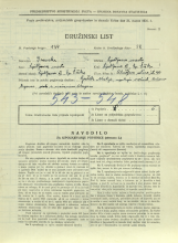 Popis prebivalstva 31. 3. 1931<br />Ljubljana<br />Aleševčeva ulica 40<br />Population census 31 March 1931