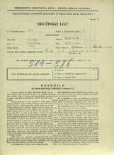 Popis prebivalstva 31. 3. 1931<br />Ljubljana<br />Aljaževa cesta 1<br />Population census 31 March 1931